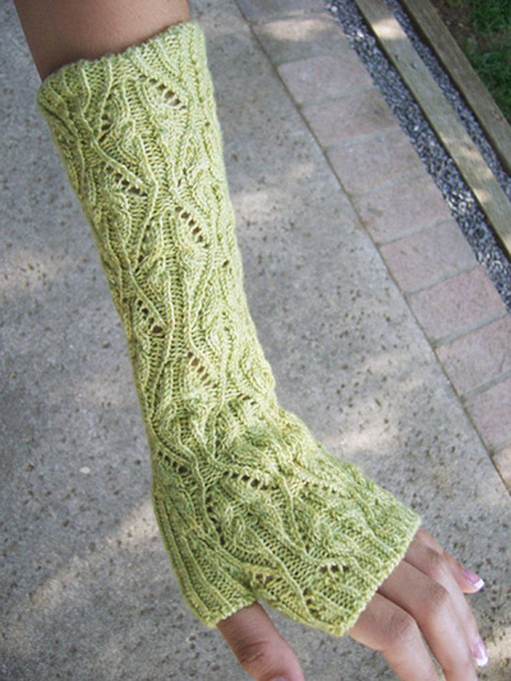 Long green mitts