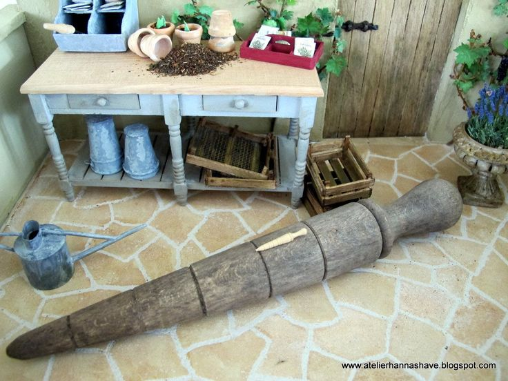 Woodturned Dibble 1:12 by AtelierHannasHave on Etsy