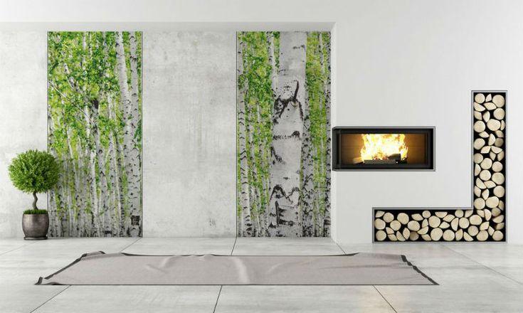 Pomysły na dekorację ściany w salonie: fototapeta w pokoju dziennym