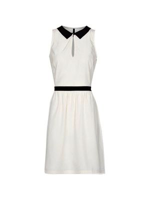Mango Dress- keep it professional but pretty in this black accented white dress