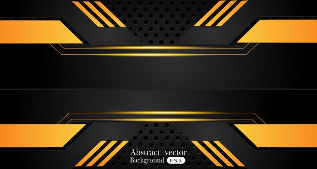 Orange Yellow And Black Abstract Business Background In 2020