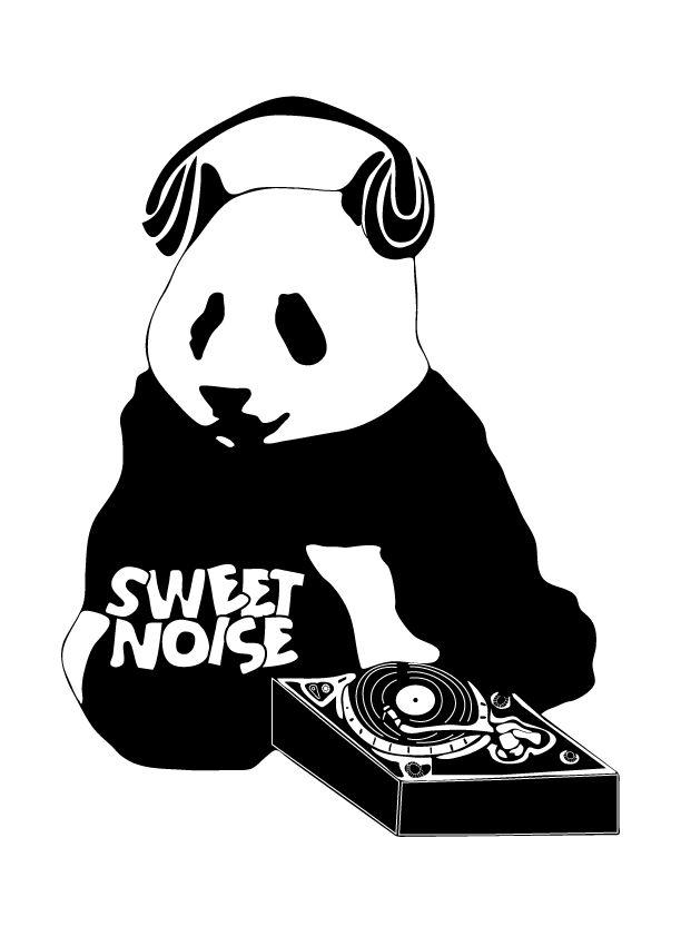 Sweet Noise Panda Logo Design