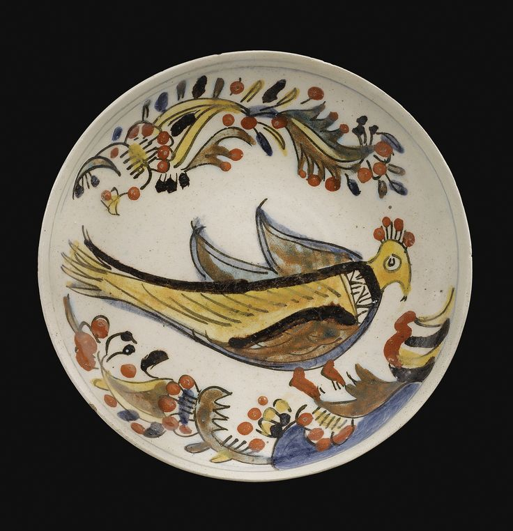 A Kütahya bird dish, Turkey, second half 18th Century