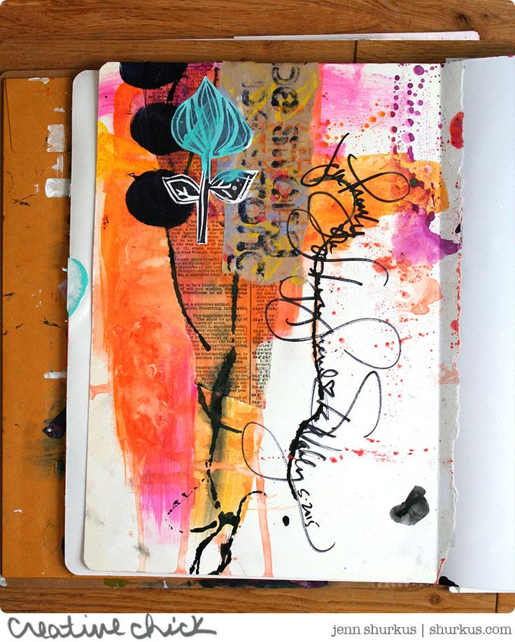 Art Journal Play Series: Random by Design with Dina Wakley | shurkus.com