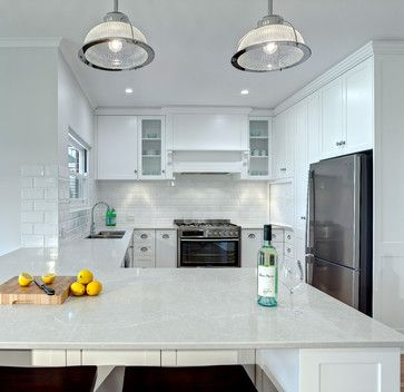 Caesarstone Alpine Mist Design Ideas, Pictures, Remodel and Decor