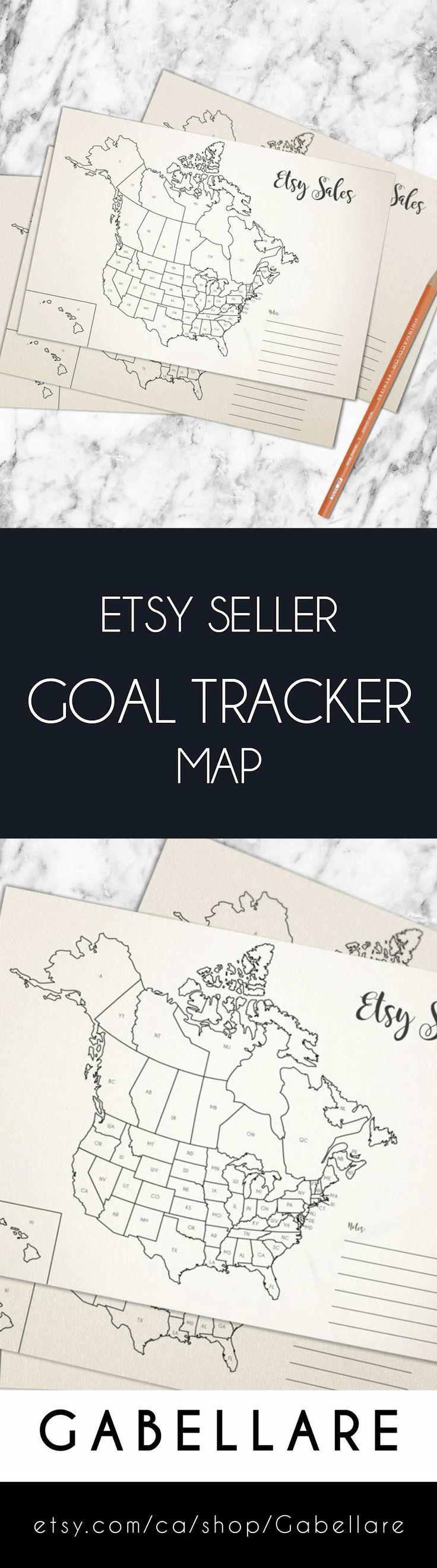 Seller World Map Etsy Sale Planner