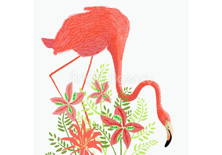 #pinkflamingo #art by @janenewland and is part of our new #exhibition #love #animals buy the #print For more info, have a look at out what's on page http://www.thebrightemporium.com/printsandproducts/print-on-demand/
