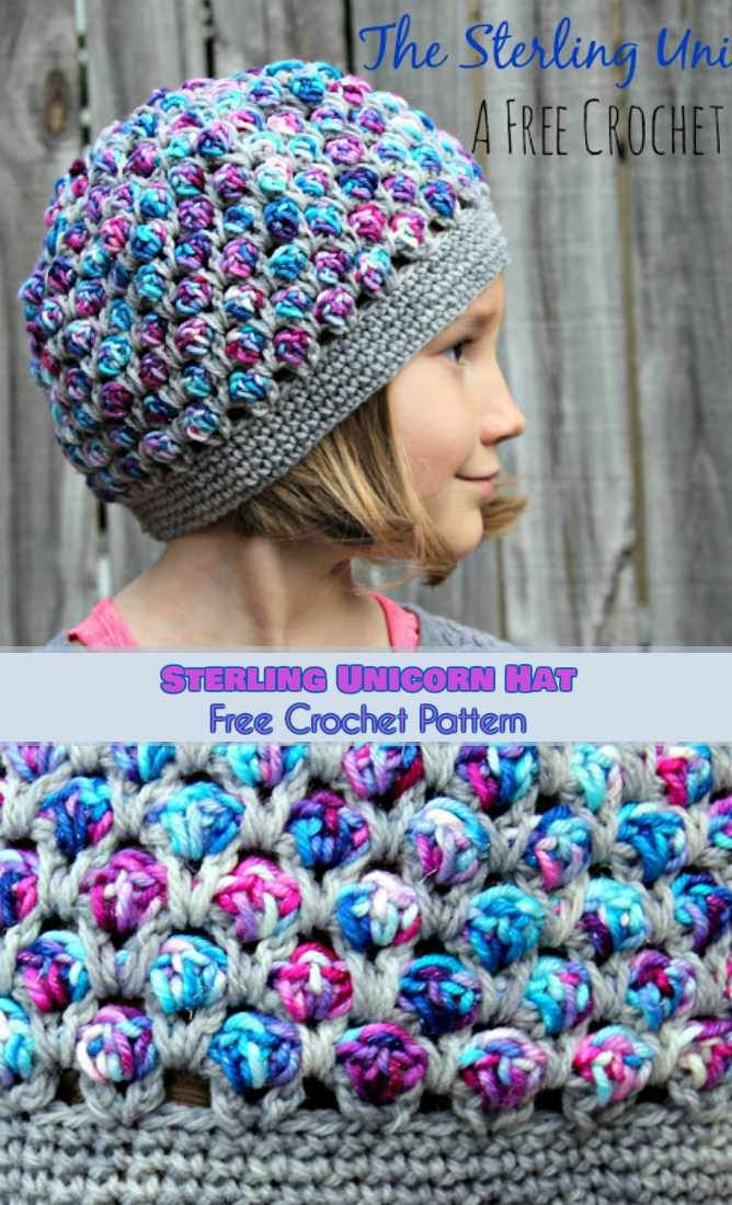 Trendy and Stylish Crochet Hat - Sterling Unicorn