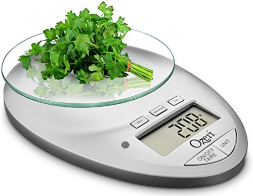 Ozeri Pro II Digital Kitchen Scale with Removable Glass P...