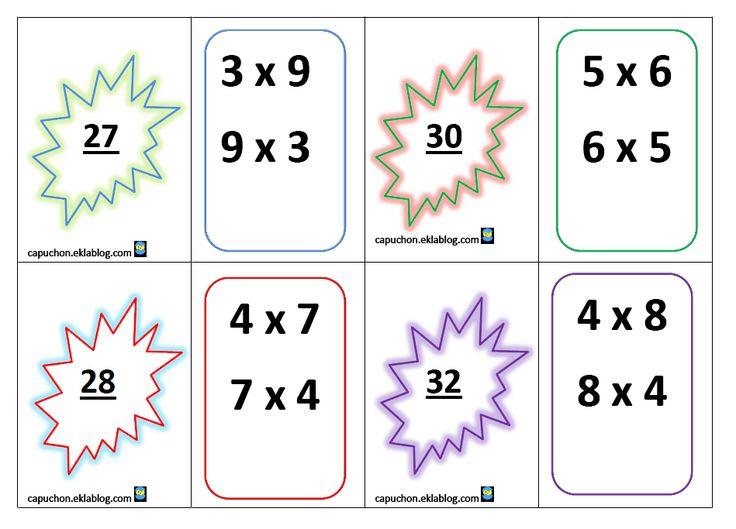 1000 id es sur le th me tableau de multiplication sur for Les jeux de multiplication