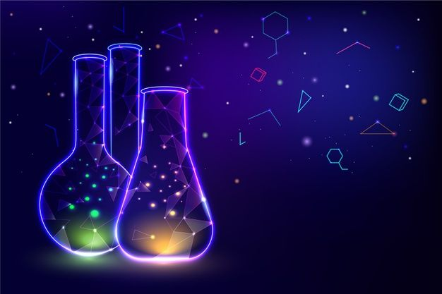 Download Neon Light Containers Lab Background For Free Vector Free Neon Science Science Drawing
