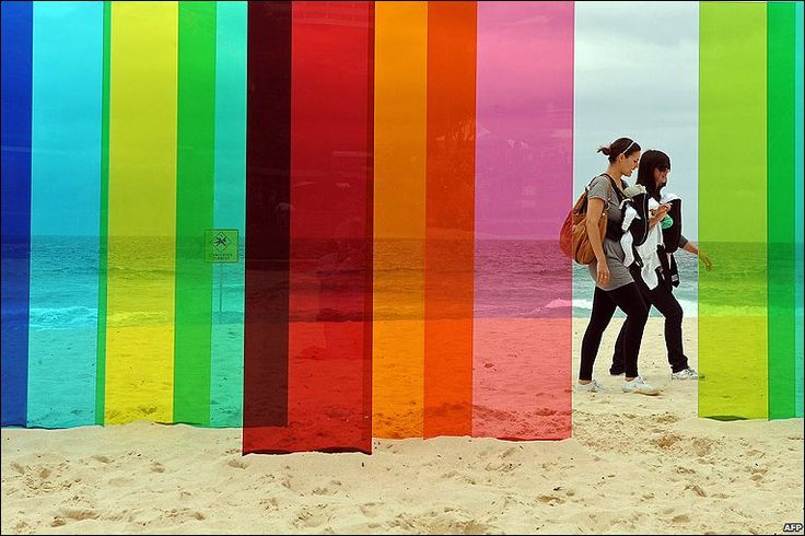 Perspex coloured wind breakers