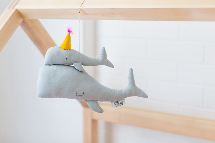 Mum and Baby Whale Mobile by Scalae, available at Bobby Rabbit.