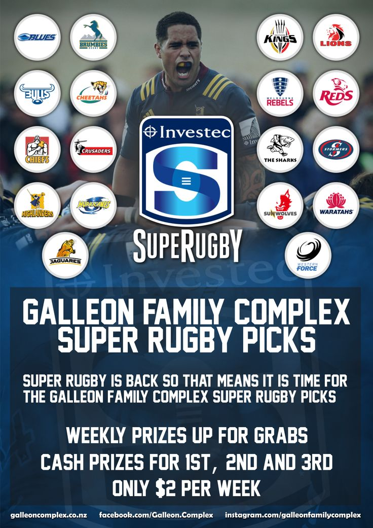 Super Rugby picks at the Galleon!