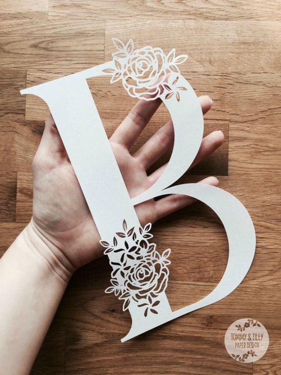 floral letter  u0026 39 b u0026 39  svg pdf design papercutting vinyl