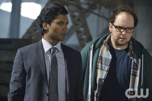 """Beauty and the Beast -- """"Who Am I?"""" -- Image Number: BB201b_0253.jpg – Pictured (L-R):  Sendhil Ramamurthy as Gabe and Austin Basis as JT - Photo: Ben Mark Holzberg/The CW -- © 2013 The CW Network, LLC. All rights reserved."""