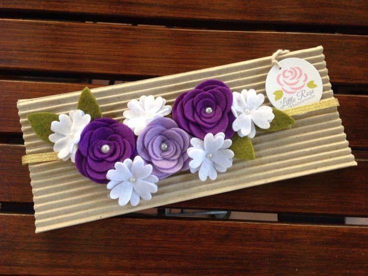 Fascia elastica con fiori e rose per capelli by Little Rose Handmade, by Romanticards e Little Rose Handmade, 8,00 € su misshobby.com