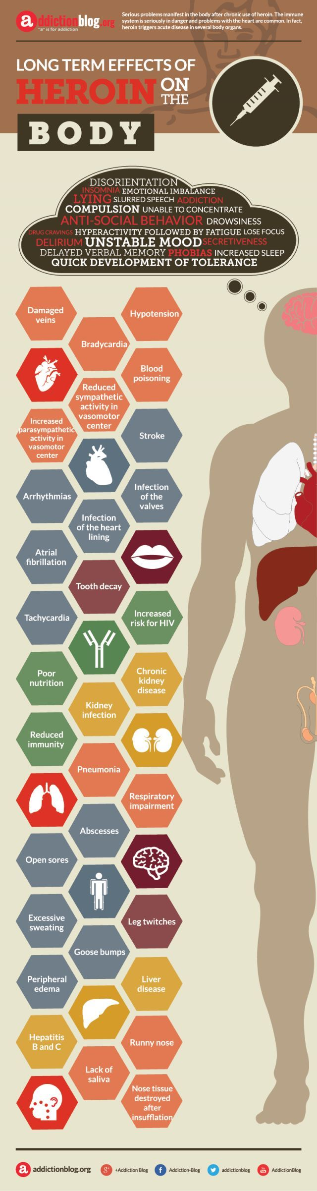 Long term effects of heroin on the body (INFOGRAPHIC) | Addiction Blog