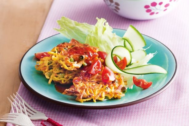 Tuna and noodle fritters
