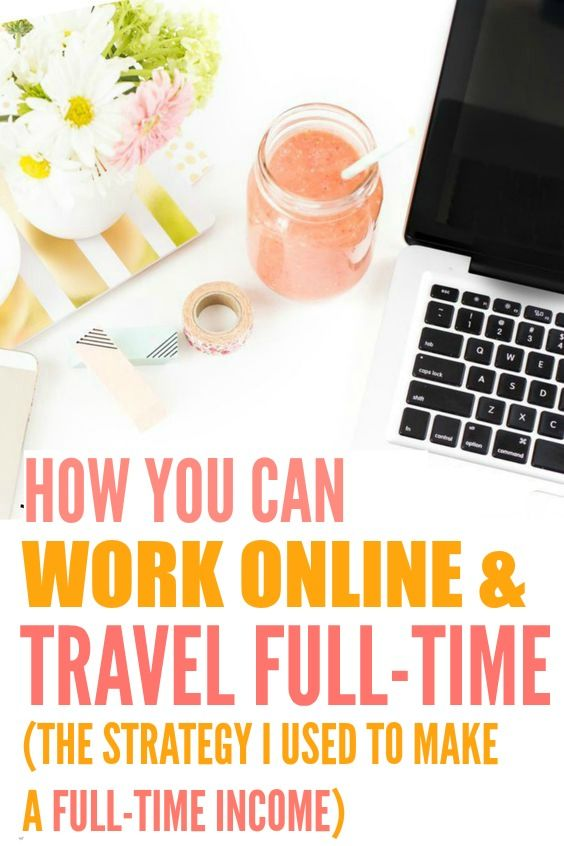 How she was able to work online and travel full time is THE BEST! I'm so glad I found these AWESOME tips! Now I can show other people this strategy to start working from home.. or anywhere! Definitely pinning for later!
