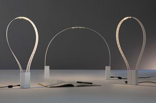 Flexibler Lichtbogen: Fluida von Studio Natural