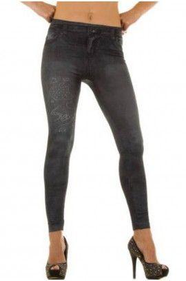 Κολάν - Sexy Leggings in Jeans print HJ1030-G