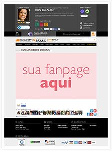 página de amigos e clientes