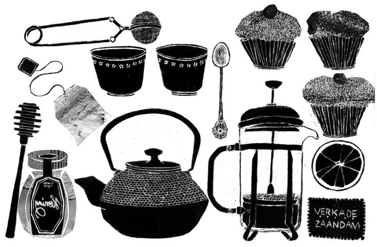 illustratie, koffie & thee