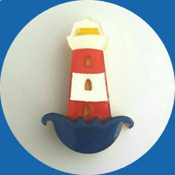 Lighthouse Brooch, Vintage Inspired, Novelty brooch, Rockabilly, Pinup, Sailor…