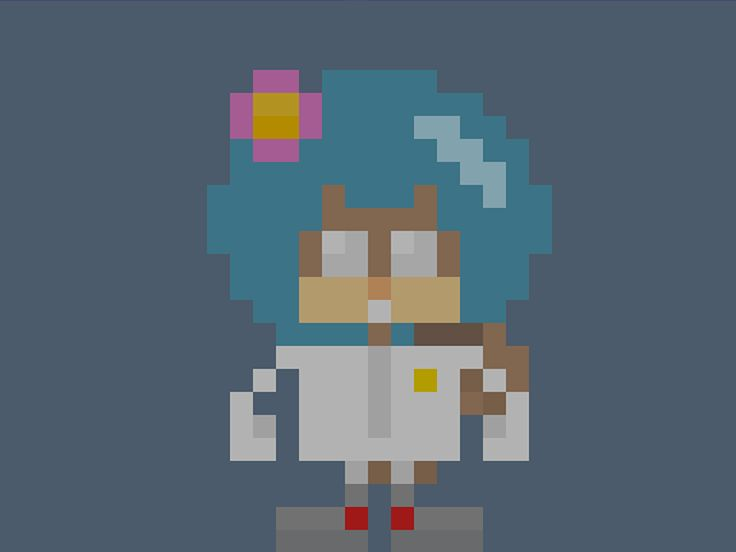 "Famous Characters in Pixel Art • Sandra Sandy Cheeks from ""SpongeBob SquarePants"" #spongebob #squarepants #sandy #cheeks #pixelart #pixels #pixel #16bit #theoluk #characters #cartoon #squirrel"