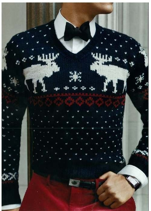 Who said a Christmas sweater can't look classy?