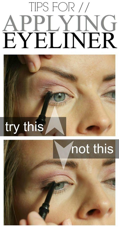 Wie man Eyeliner auf Augen Schritt für Schritt aufträgt   – Makeup Tips