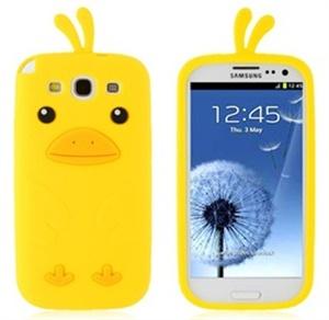 Capa de Silicone Design Pintinho para Samsung Galaxy S3 i9300 - Amarelo