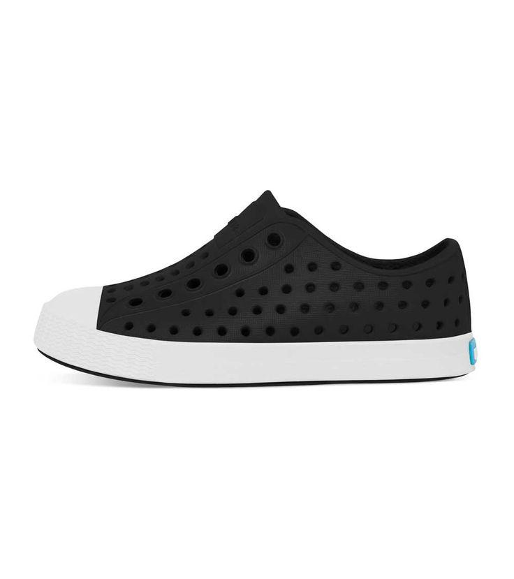 Native Jefferson Jiffy Black/Shell White, Kids Footwear, www.oishi-m.com