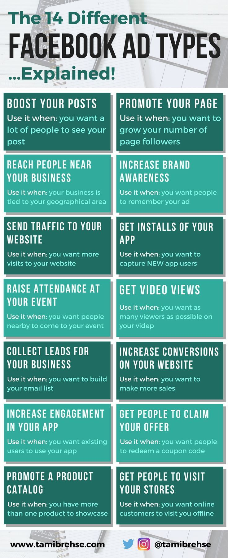 48 best facebook ads images on pinterest when marketing your business or blog on facebook choosing the right advertising objective is critical fandeluxe Images