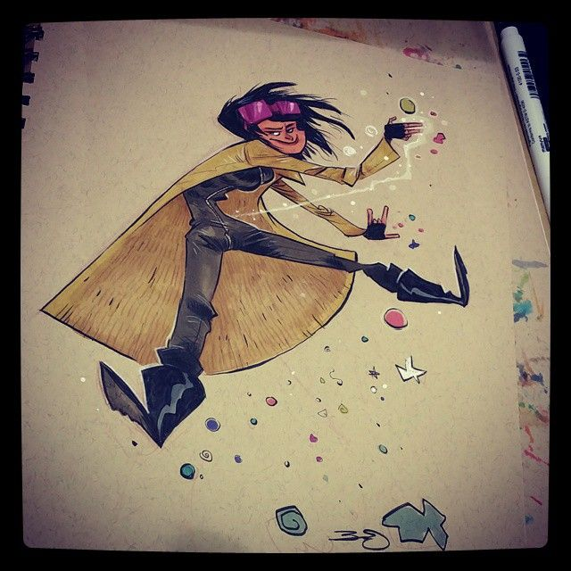 Commission #2dbean  #art #eccc #xmen #jubilee  (at Washington Seattle Convention Center)