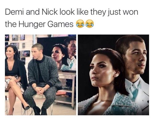 demi lovato, funny, and nick jonas image