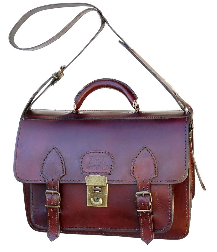 Freestyle Gladiator II (Midbrown) Unisex Genuine Leather Bag. R 1'999. Handcrafted in South Africa. Width: 35.5 cm Height: 24.5 cm Gussets: 7cm