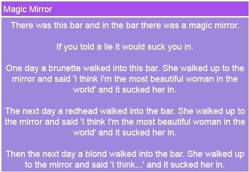 This is funny blonde joke I found