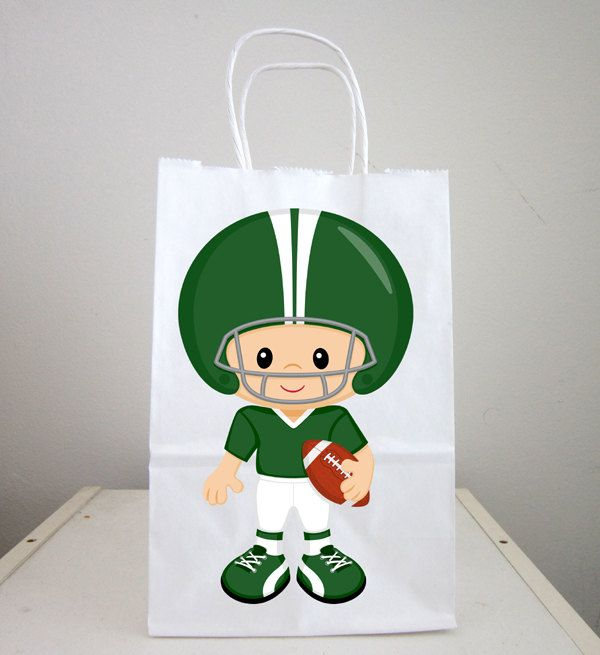 Football Goody Bags, Football Goodie Bags, Football Favor Bags, Football Player Favors, Football Gift Bags by CraftyCue on Etsy