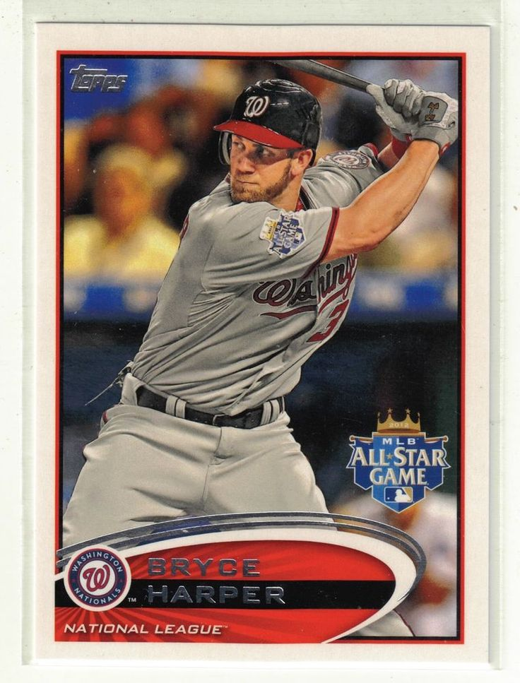 2012 Topps Update Baseball Bryce Harper Rookie Card #US299 Washington Nationals #2012ToppsUpdateSeriesBaseball #MLBWashingtonNationals @Bharper3407, @Nationals, @Topps