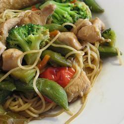 Chinese noedels met kip