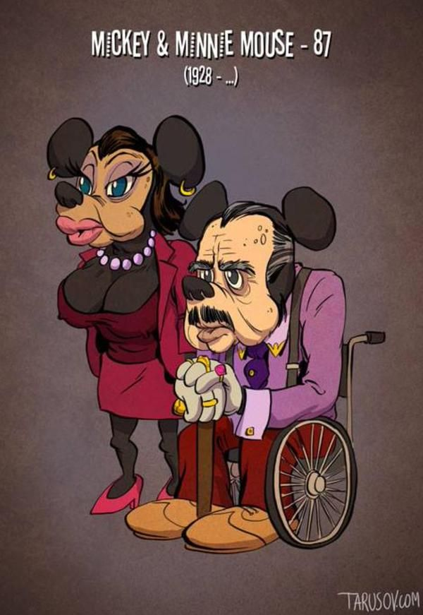 Old Disney Characters Prove Not Even Mickey Mouse Is Immune To Aging