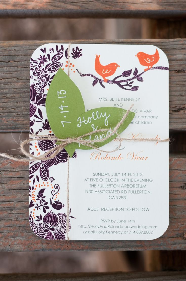 Purple and Orange Rustic Garden Wedding 449