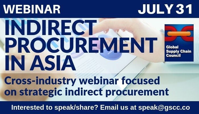 If You Are Interested In Indirect Procurement Or Sourcing Consider Attending The Indirect Procurement Webinar On July 31 Vie Procurement Webinar Supply Chain