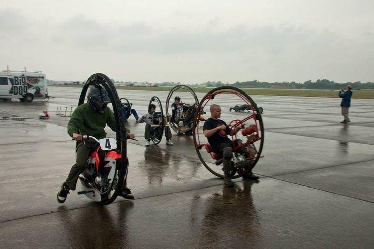 Dr D M Southall Monowheel Legend and Acrobat      at  BMA Meet 23/07/13 - Elvington Airfield .   ...