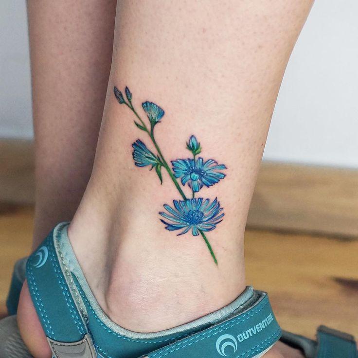 Más De 25 Ideas Increíbles Sobre Tatuajes De Flor Azul En