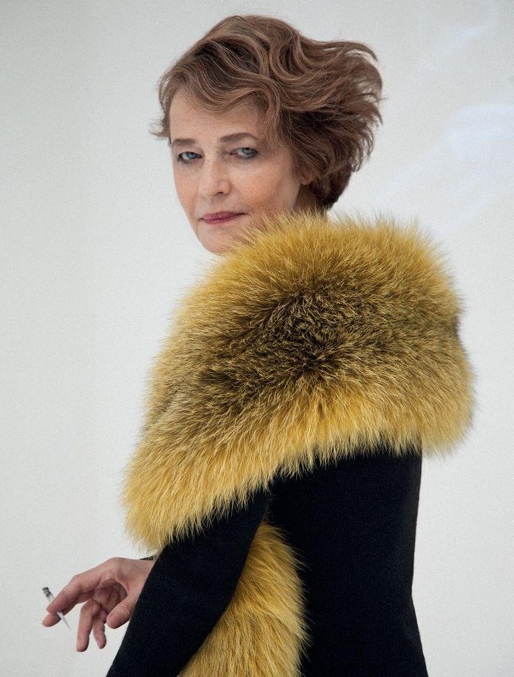 Charlotte Rampling photographed for Grey IX (magazine) by Peppe Tortora (Fall 2013).
