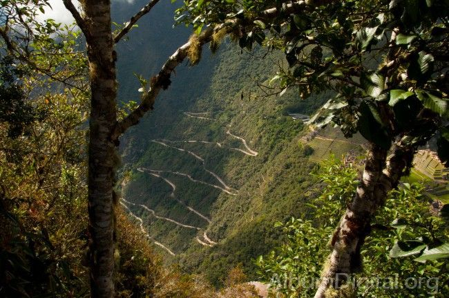 Ladera del cerro Machu Picchu