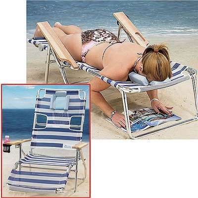 ostrich multi position 3n1 beach chair 3
